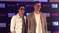 #SRKwithBradPitt: Shah Rukh Khan is in conversation with Brad Pitt and we CAN'T KEEP CALM! Check pics