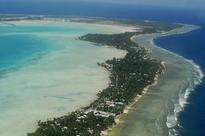 Tidal surges continue to rise in the island nation of Kiribati in Pacific Ocean