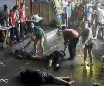 Video shows savage attack of British family after son bumps man on crowded street in Thailand