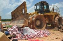 GRA Destroys 500 Boxes Of Smuggled Cigarettes