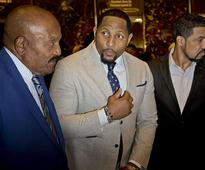 Kanye West, Jim Brown, Ray Lewis meet with Trump in NYC