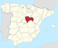 Spanish grave opened on order of Argentine jud... Guadalajara highlighted in Spain map.     By Sonya Dowse...