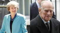 Britain's Theresa May pays tribute to Prince Philip