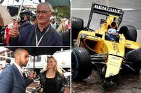 Claudio Ranieri, Theo Walcott and Michael Carrick brave the elements at sodden Monaco GP