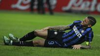 Icardi injury, Palacio ban trouble Mancini ahead of Roma