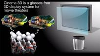 Finally a screen that lets movie goers view 3D minus those clunky glasses