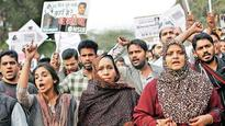 Remove your uniforms and join me in the protest, says missing JNU student's mother outside CBI office