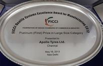 Apollo Tyres' Chennai Unit conferred with FICCI Quality Systems Excellence awards