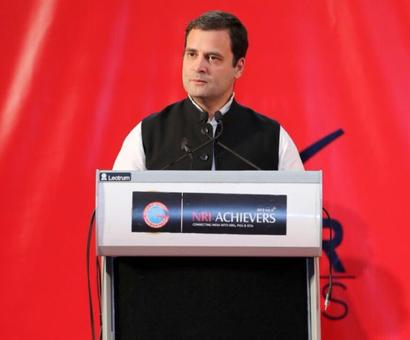 There's a serious problem back home: Rahul to Indians in Bahrain