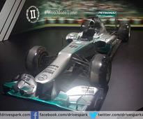 Auto Expo: Mercedes AMG W04 F1 Car On Display