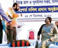Ministers quarrel on govt event dais