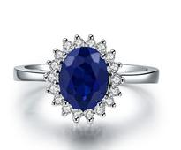 Stone Studded Ring in Royal Blue