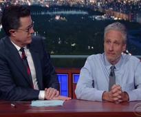 Jon Stewart mocks medias breakup with Trump on Late Show