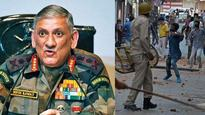 Mobs who disrupt military ops will be treated as 'overground workers of terrorists': Army Chief Rawat