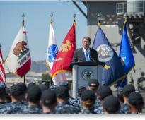 On the warpath: US Defence Secretary Carter announces