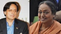 Prez Poll: Shashi Tharoor praises Meira Kumar's 'qualifications', Twitter says make her Congress President