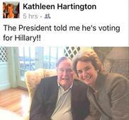 BETRAYAL: Republican former Pres. George H.W. Bush will vote for Hillary Clinton