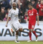 Swansea 3-1 Liverpool: Andre Ayew doubles up to down the Reds as Jack Cork scores a pearler and Brad Smith sees red at the Liberty Stadium