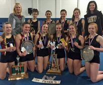 OFSAA silver, bronze, COSSA team championship for St. Peter Saints girls gymnastics team