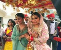Nimrat Kaur steals the show with her gold chand balis and maang tika at sister's wedding