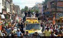 Rahul Gandhi Begins His Road Show In Mathura