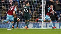 Premier League: Burnley's Gudmundsson denies victory to Manchester City