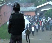 Security forces charge at protesters in Gabon