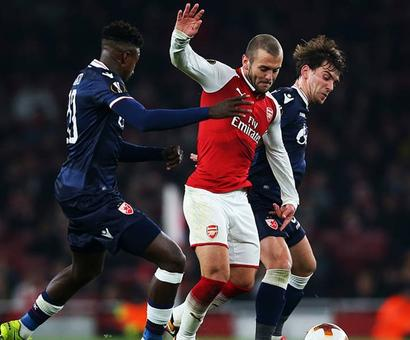 Europa League: Arsenal through, Everton go out