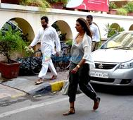 Saif Ali Khan snapped outside his house in…