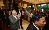 In Philippines, PM Narendra Modi meets President Donald Trump, shares (half) hug