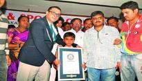 Om Prakash Gowda sets new Guinness World Record for limbo skating
