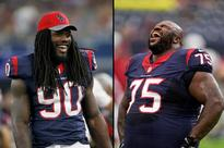 Texans swap jerseys at practice and Jadeveon Clowney looks comically small in Vince Wilfork's