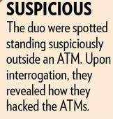 Two youths arrested for hacking ATMs in Pimpri