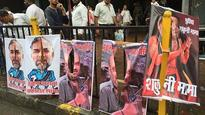 Mumbai: Shiv Sena mocks Amit Shah in 'Sholay' posters, Ashish Shelar's effigy burnt
