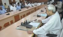 BJD Legislature Party Meeting before the Monsoon Session of the Odisha Assembly at the BJD Office on Sep 20, 2016