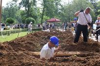 Hungarian Gravediggers Compete in National Grave Digging Competition