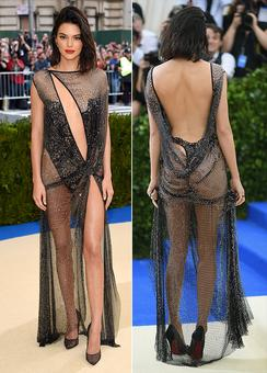 Kendall wore pretty much nothing to the MET Gala