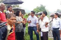 Alina discusses KRCL road closure with Cuelim, Nagoa locals