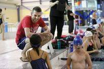 Olympic swimmer making GP stop