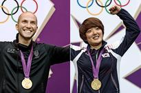 Kim Jangmi and Nicco Campriani ISSF Shooters of the Year 2012