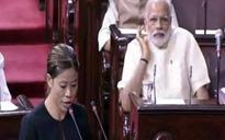 Modi's handshake with opposition leaders as new Rajya Sabha MPs take oath