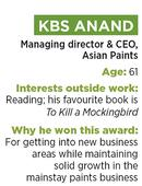 KBS Anand: Taking Asian Paints to homes and beyond