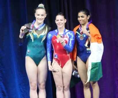 Historic! Aruna wins bronze at Gymnastics World Cup