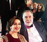 Madhuri rubs shoulders with Hollywood