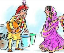 Knotty affair: No water, no bride for Buxwah...