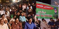MBT Candidate and Leader Amjed Ullah Khan Party Candidate form Akbar Bagh division addressing a Massive public meeting