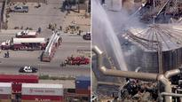 Sulfur tank at refinery in Los Angeles explodes