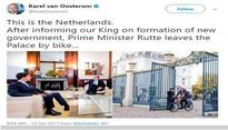 Dutch PM Mark Rutte cycles to King's palace to inform on new govt formation