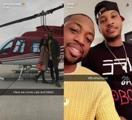 11 best sports Thanksgiving Snapchats: Carmelo hosts D-Wade and Derrick Rose