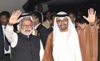Crown Prince of Abu Dhabi Sheikh Mohammed bin Zayed Al Nahyan Arrives In India, Prime Minister Narendra Modi Welcomes